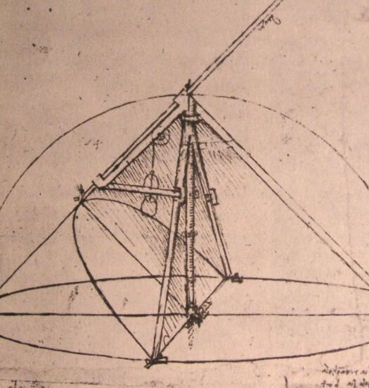 Design for a parabolic compass - by Leonardo da Vinci