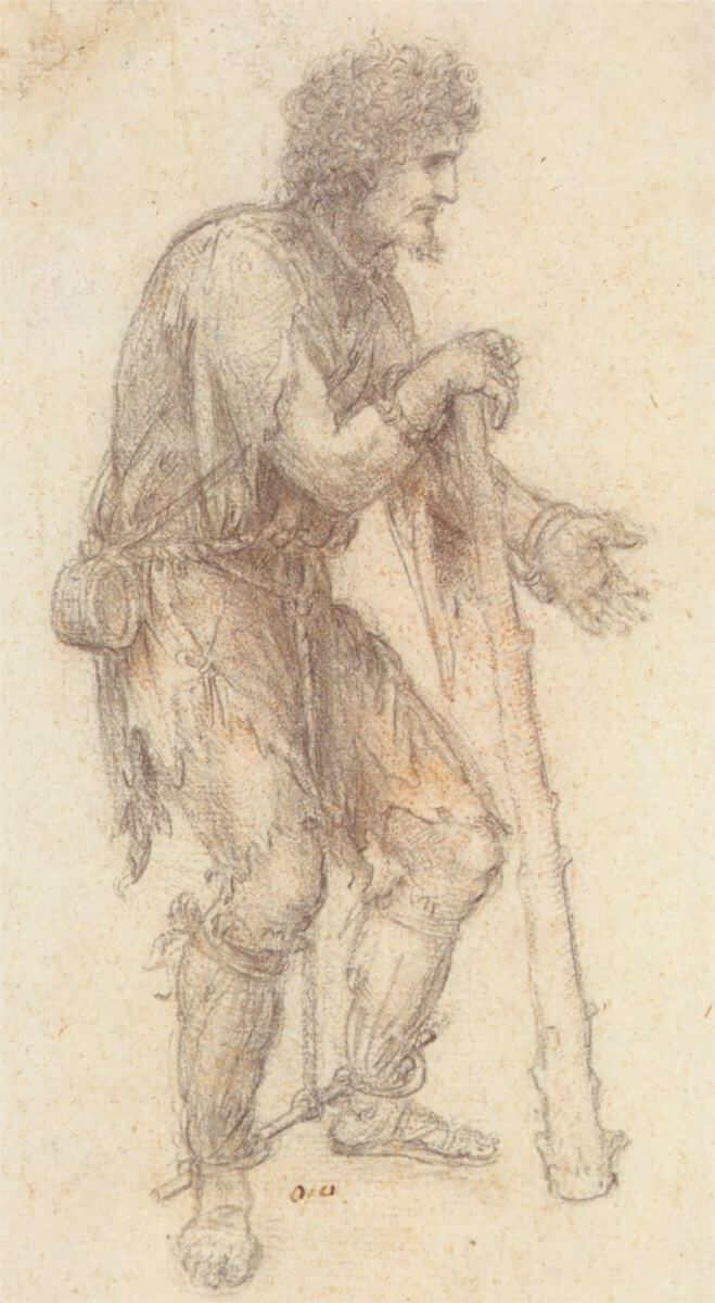 Masquerader in the guise of a prisoner - by Leonardo da Vinci