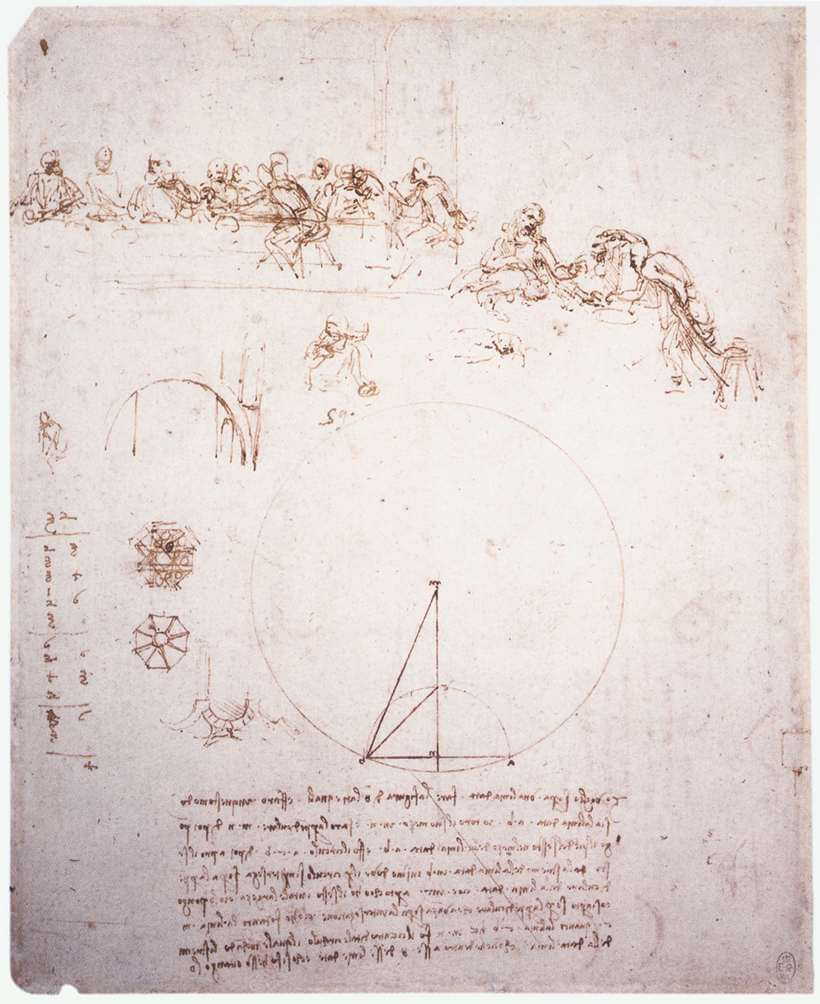 Study for the last supper - by Leonardo da Vinci