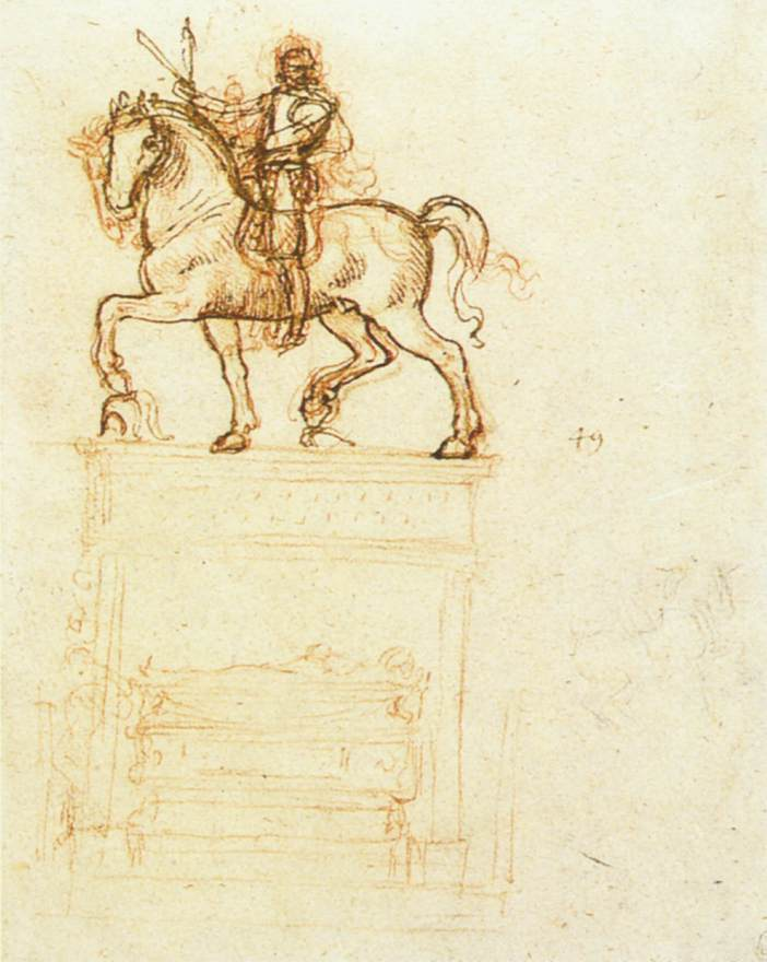 Study for the trivulzio monument - by Leonardo da Vinci