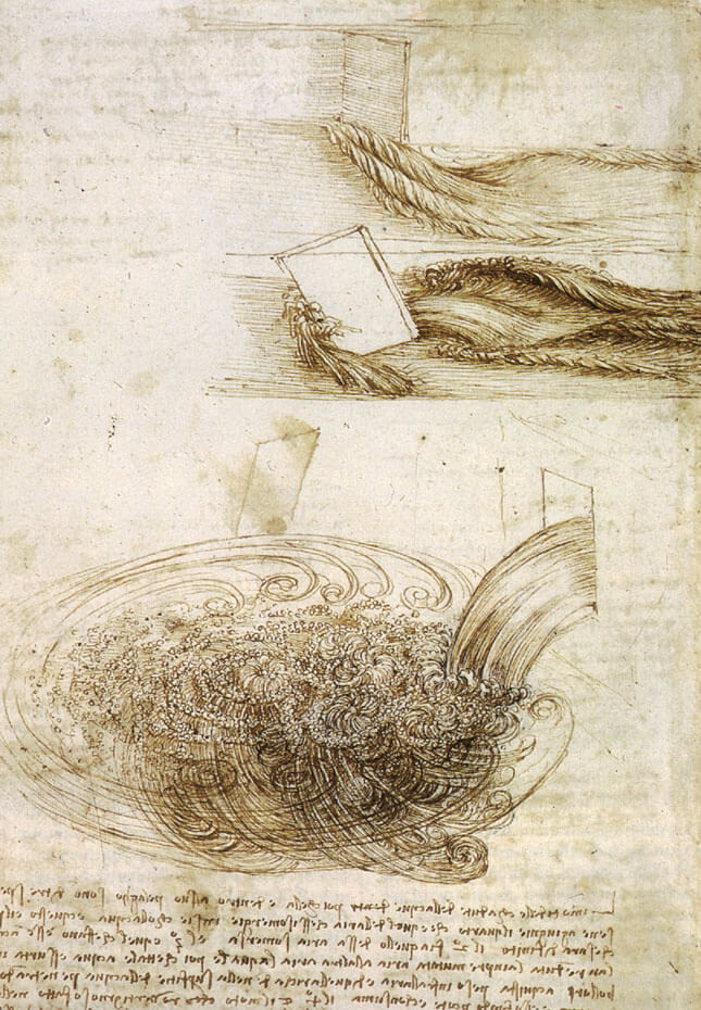 Studies of Water Passing Obstacles - by Leonardo da Vinci