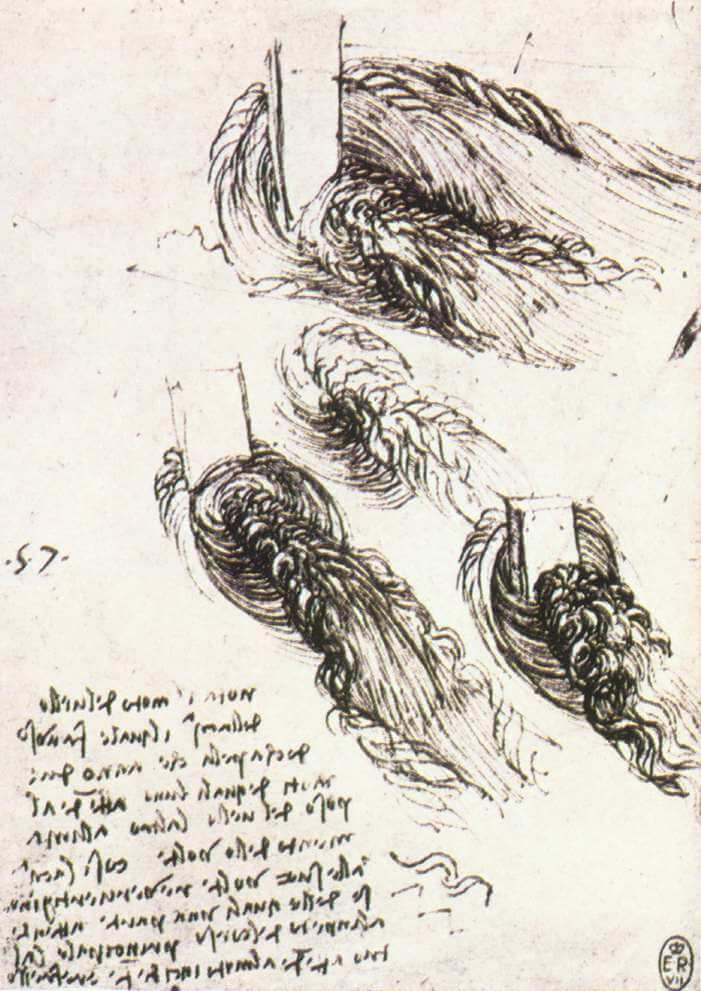 Study of water - by Leonardo da Vinci