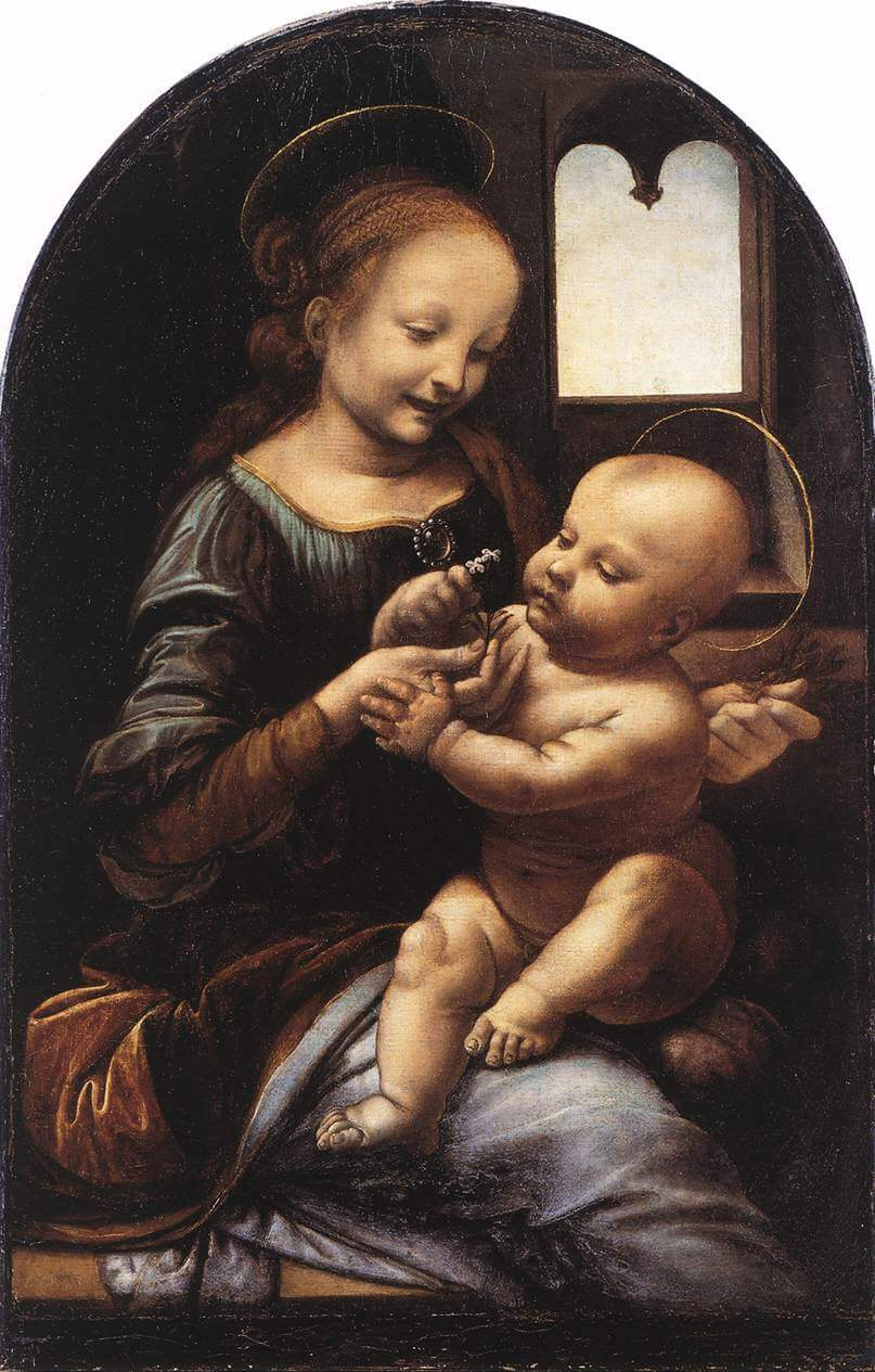Benois Madonna - by Leonardo da Vinci Da Vinci Paintings