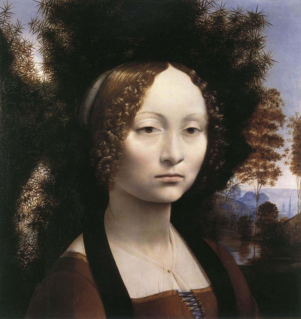 Portrait of Ginevra de' Benci - by Leonardo Da Vinci