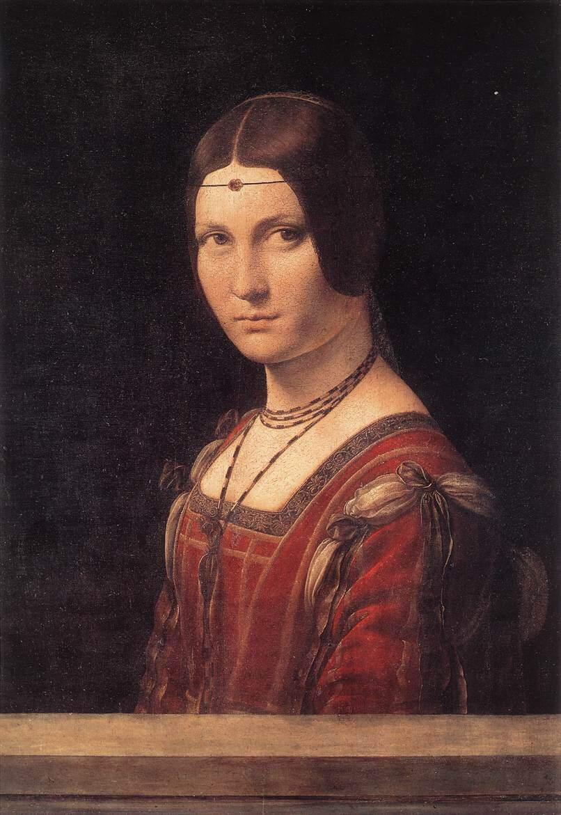 La Belle Ferronniere - by Leonardo da Vinci Da Vinci Paintings