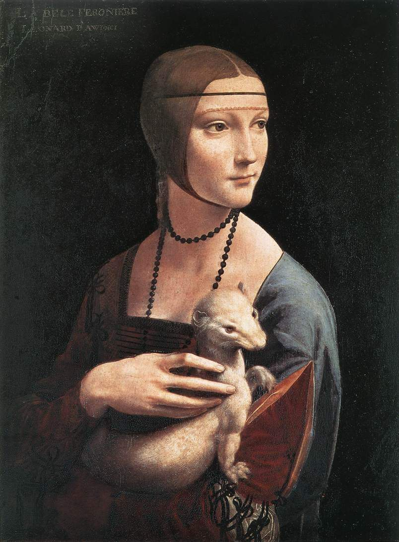 Lady with an Ermine - by Leonardo da Vinci