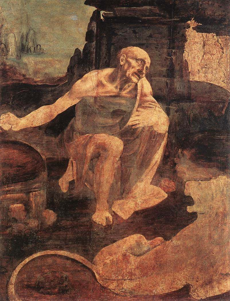 St. Jerome in the Desert - by Leonardo Da Vinci