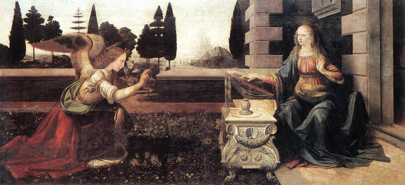 The Annunciation - by Leonardo Da Vinci