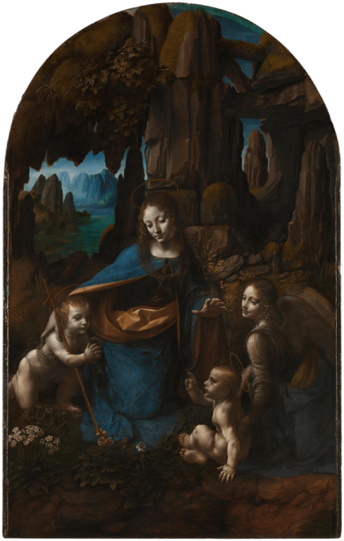 The Virgin of the Rocks, London version - by Leonardo Da Vinci