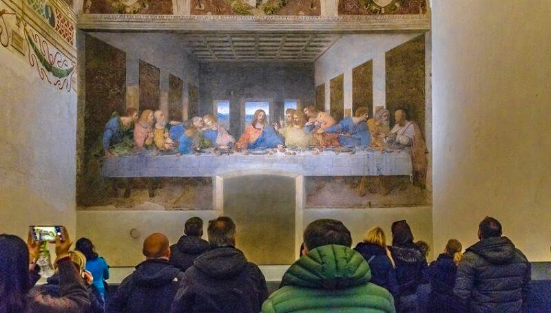 leonardo da vinci last supper painting location cv